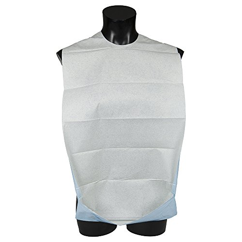 Abena selbstklebend und Einweg Erwachsene Kleidung Displayschutzfolie Lätzchen mit Taschen–100Stück