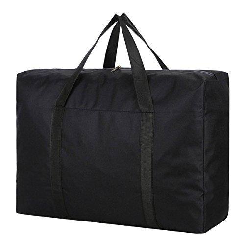 Aisa Extra Large Oxford Storage Bag Travel Foldable Duffel Bag Waterproof Anti-Tear Packable Luggage Bags Black