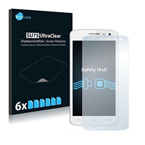 6X Savvies SU75 UltraClear Bildschirmschutz Schutzfolie für Elephone G3 (ultraklar, mühelosanzubringen)
