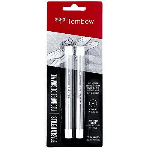 Tombow 57316 overol Zero - Recambios de goma de borrar, redondos, overol Zero Precision Tip Borrador Recambios, 2,3 mm