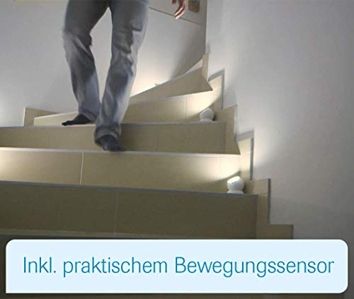 Mediashop Handylux Light-Ball LED Powerlicht- Ball - 360 Grad drehbar - magnetisch - Batterie-Leuchte   Taschenlampe - Bewegungssensor - Nachtlicht - Safe Touch Oberfläche - 4 Stück - 8