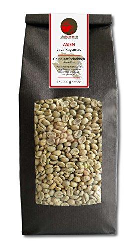 Rohkaffee - Grüner Hochland Kaffee Java Kayumas (grüne Kaffeebohnen 1000g)