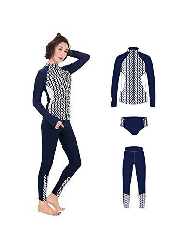 3Pcs Vrouwen shirt met lange mouwen Wetsuit Duiken Snorkelen Suit Water Sportswear UV-bescherming Swimsuit