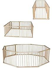 Dibea Dp00582 Baby Looprooster Hoogte 68 cm Loopstal 8 Elementen Hout, 90X68 cm, Bruin