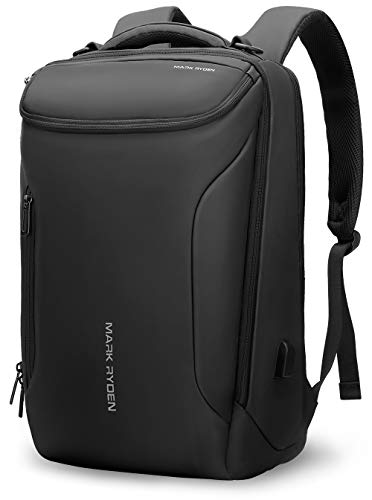 Business Backpack,MARK RYDEN Waterproof laptop Backpack for School Travel Work Flight Fits 17Laptop with USB Plug,30L Carry On Luggage