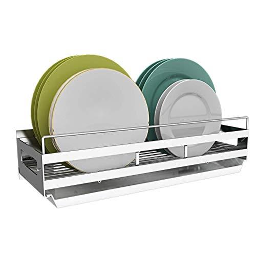 L.TSA Küchenregal DIY Combination 201 Wand-Küchenbesteckhalter aus Edelstahl - Tellerhalter/Abtropfbrett.(Farbe: Plate Rack)