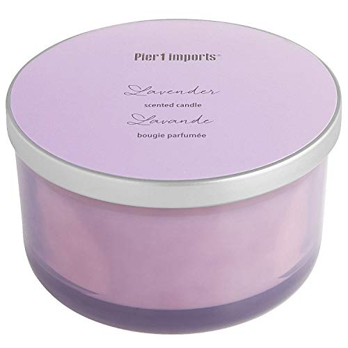 Pier 1 Filled 3-Wick Candle Spring Collection (Lavender)