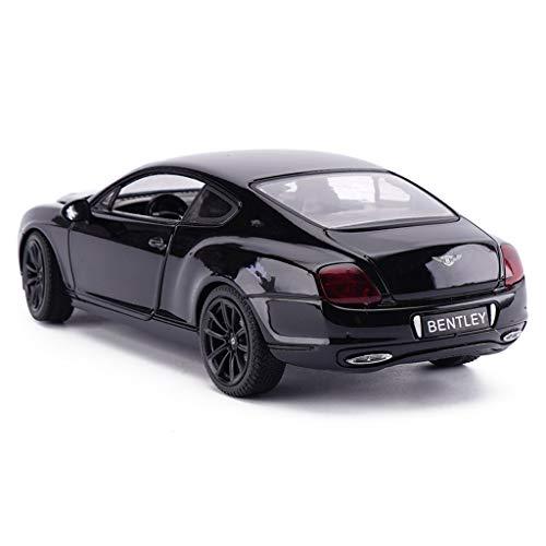 Xuping shop 1/24 Bentley Continental ISR aleación simulación coche modelo convertible coche de juguete - negro (color: negro B)
