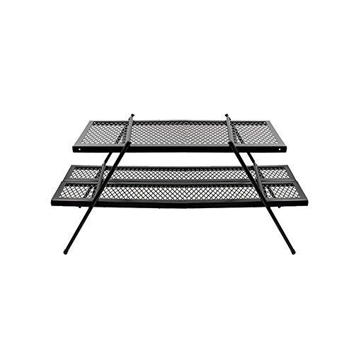 Campingtisch Tragbare Mini Doppelschicht Outdoor Klapptisch Eisen Tischständer Integrierte Reise Klapptisch kann mit Nähten kombiniert werden Multifunktions Einfache Tabelle mit Aufbewahrungstasche Fa