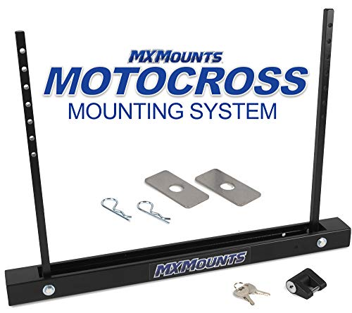 MX Mounts Strapless, All Metal, Motocross Carrier, Lockable Truck Bed and Trailer Mount, Easy Installation, Fold Flat Design, Ultimate Bike Trailer Accessory (MXI - Single Mount)