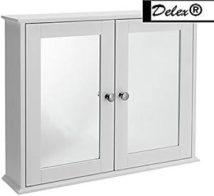 Delex di alta qualità 2porte a specchio, MDF, bianco,