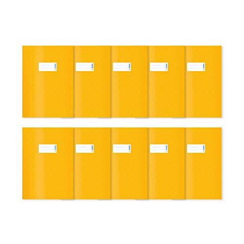 HERMA 20239 - Lote de 10 fundas para cuadernos (DIN A4, con etiqueta y estructura de rafia), color amarillo