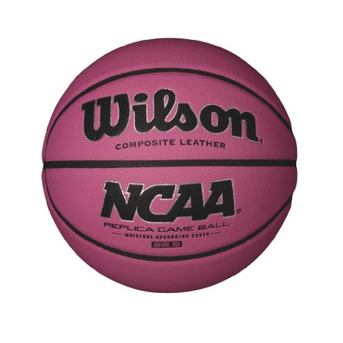 Best Review Of Wilson NCAA Pink Replica Game Basketball, Intermediate - 28.5