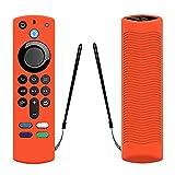 zebroau Alexa - Funda para mando a distancia de voz (3ª generación), funda de silicona para Alexa TV-Stick Control remoto, peso ligero, antideslizante, a prueba de golpes, (versión 2021)