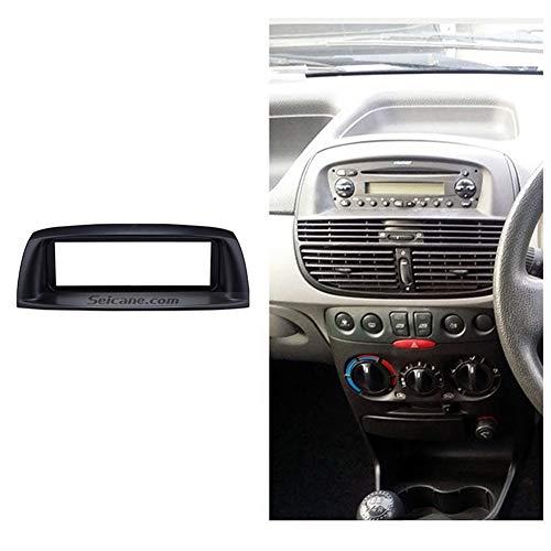 HUOGUOYIN Autoradio Bluetooth Seicane Audio Player Dash Kit Face Plate Panel 1 Din Autoradio Fascia for Das Jahr 2002 FIAT Punto Linea Refitting Stereo-Rahmen 183 * 53mm Autofaszie