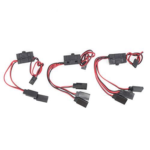 Guoshiy Interruptores de Encendido y Apagado, Interruptor RC Duradero de 3 vías Conectores de Interruptor de Encendido / Apagado RC Interruptor de Encendido RC de 5 vías para Control Remoto Coche