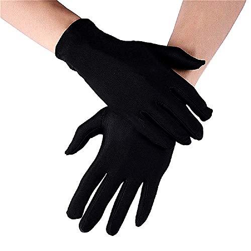 Guantes de mago - negro - estiramiento - hombre - mujer - disfraz - disfraz - accesorios - mimo - magia - ilusionista - ratn - carnaval - halloween - idea de regalo de cumpleaos de navidad