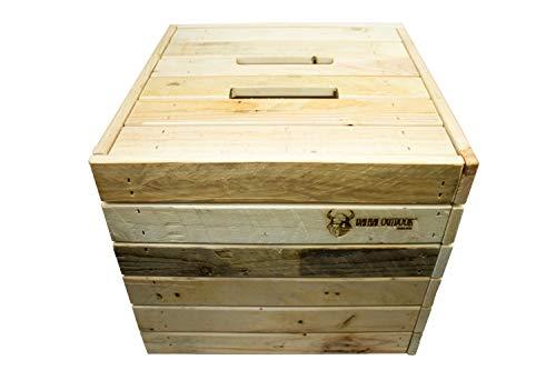 Valhal Outdoor Holzkiste VH.Box - Jede Holzkiste ist EIN Unikat und Wird aus recyceltem Palettenholz handgefertigt