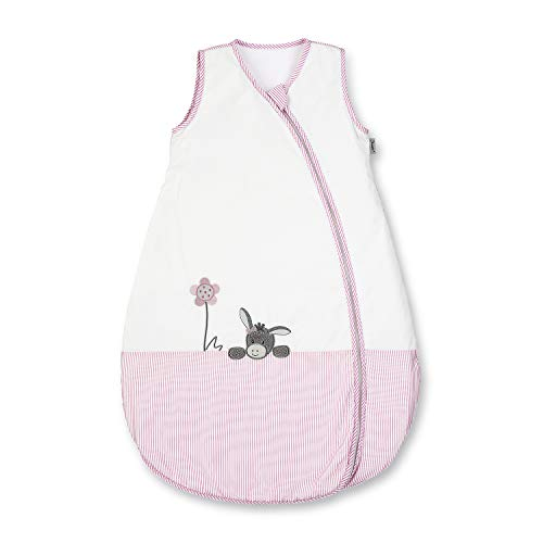 Sterntaler GmbH & Co. KG (Parent) Sterntaler Sommer-Schlafsack für Kleinkinder, Reißverschluss, Größe: 70, Emmi Girl, Weiß/Rosa