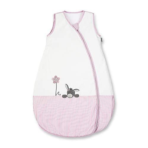 Sterntaler Sommer-Schlafsack für Kleinkinder, Reißverschluss, Größe: 70, Emmi Girl, Weiß/Rosa