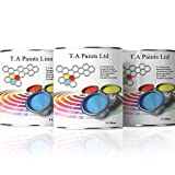 T A Paints | Exterior Marine Boat Paint 1 Litre Ultramarine Blue | High Quality PU Paint for External Marine...