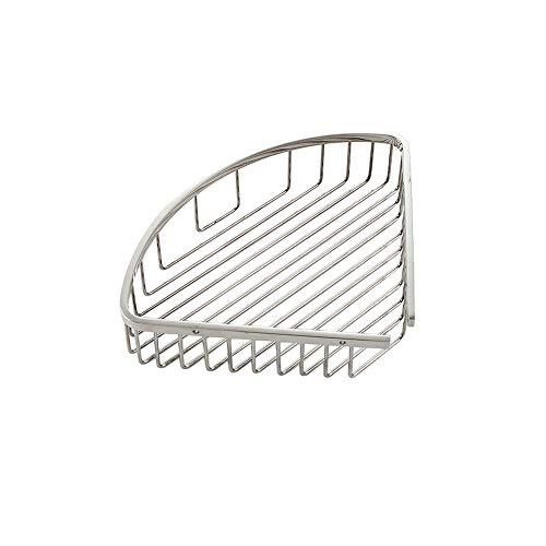 BEDKING Estantería de almacenamiento de esquina de acero inoxidable SUS304 de una sola capa en triángulo Estante de almacenamiento multifuncional Estante flotante oculto Organizador de baño Estante de