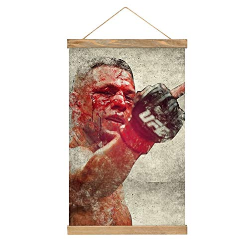 High Grade Canvas Hangs a Picture,Nate Diaz,Modern Canvas Mural,Poster Mural,Easy to Install Mural -13.1''×20.4''
