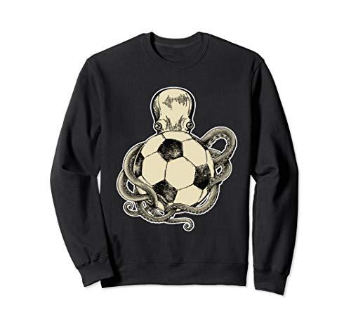 Octopus und Fußball Ball Geschenk für Fußballspieler Sweatshirt