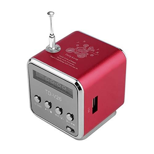 Earlyad Mini Altavoz Portátil Tarjeta SD TF USB 35mm para MP3 FM Plata Thrifty