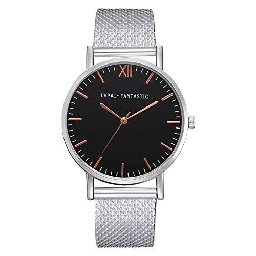SoonerQuicker Uhr Armbanduhr Damen Quartzuhr Frauen Uhren Klassisch Mode Elegant Damenuhr Armbanduhren Analoge Quarz Silikonband Wasserdicht Billig Geschäft Geschenke 2