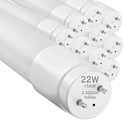 10x Tubi LED 150cm G13 T8 22W 2000 lumen Luce Bianco Freddo 6400K - Fascio Luminoso 160° - Sostituzione Neon - Eurocali