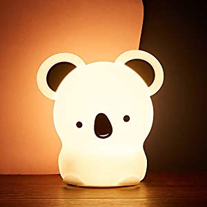 Cute Koala Night Light for Kids,Led Silicone Animals Nursery Nightlight,Color Changing Touch Lamp,Rechargeable Portable Lights,Squishy Room Decor Decorations,Gifts for Baby Toddlers Little Girls Boys
