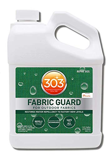 303 (30607) Products Fabric Guard - For Outdoor Fabrics - Restores Water Repellency To Factory New Levels - Repels Moisture And Stains - Manufacturer Recommended - Safe For All Fabrics, 128 fl. oz., White