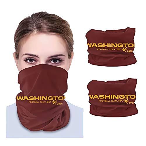 373 Washington Football Team Cutewing Face Mask Outdoor Bandanas Neck Gaiter Balaclava Magic Hiking Headband Elastic Seamless Uv Resistence Sport Headwear
