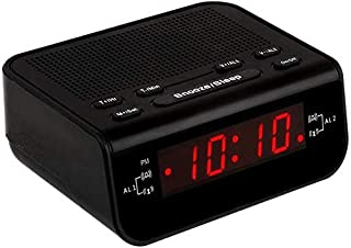 Little Digital FM Alarm Clock Radio with Dual Alarm, Snooze, Sleep Timer and Battery Backup