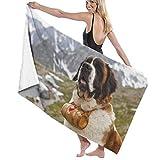Jxrodekz Telo mare ad asciugatura rapida St Bernard cane telo mare morbido e confortevole ed estremamente assorbente per nuotatori, asciugamani da bagno per bambini e adulti, piscina, sport acquatici