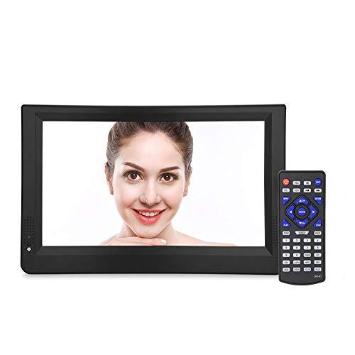 Televisión digital portátil, TV digital USB Reproductor de video HD 1500mah Batería de gran capacidad TV portátil USB con puerto USB, ranura para tarjeta SD y HDMI, para exteriores, automóvil(12 ')