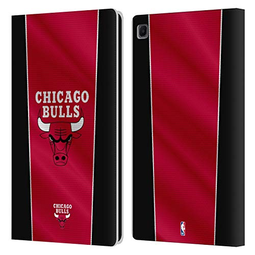 Head Case Designs Ufficiale NBA Banner Chicago Bulls Cover in Pelle a Portafoglio Compatibile con Samsung Galaxy Tab S6 Lite