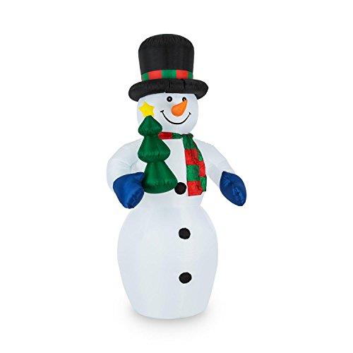 oneConcept Mr. Frost - bonhomme de neige, décoration de Noël, décoration de jardin, illuminations de Noël, intérieur et extérieur, Eclairage LED intégré, 240 cm, imperméable IP44, coloré
