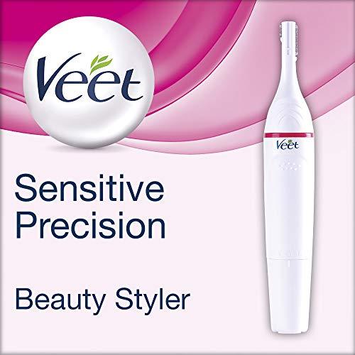 Veet Sensitive Precision Beauty Styler – Der Präzisions-Trimmer für Gesicht & Körper – 1 x Gerät – 2 x Aufsätze – 2 x Aufsatzkämme