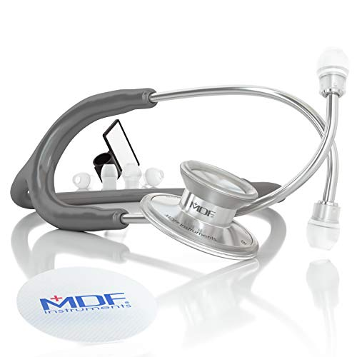 MDF® Acoustica luxuriöses, leichtes Zweikopf-Stethoskopp - Grau