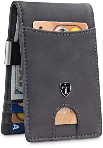 TRAVANDO Money Clip Wallet'RIO' - Mens Wallets slim Front Pocket RFID Blocking Card Holder Minimalist Mini Bifold Gift Box