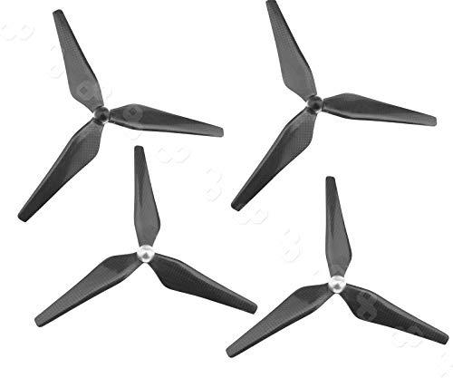 4X Kohlenstoff 9450 Propeller CW/CCW 3 Blatt Propeller für DJI Phantom 1 2 3 Vision