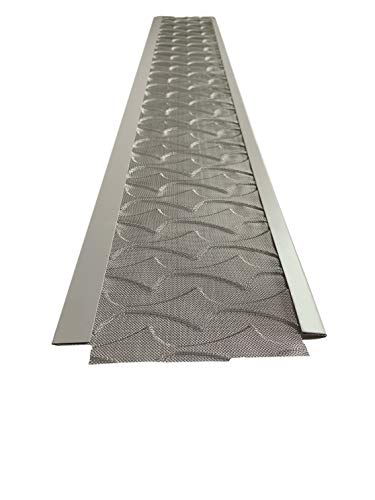 Superior Gutter Guards | NEW Raised Stainless-Steel Screen Technology Gutter Cover, DIY Constructed. Fits any Traditional 5-inch Gutter - 48FT Kit