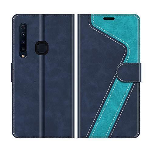 MOBESV Handyhülle für Samsung Galaxy A9 2018 Hülle Leder, Samsung Galaxy A9 2018 Klapphülle Handytasche Case für Samsung Galaxy A9 2018 Handy Hüllen, Blau