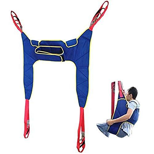411Brn7OPjL - WPY Arnés De Elevación De Paciente De Cuerpo Completo, Paciente Cinturón De Transferencia con Ajustable Altura para Posicionamiento Y Elevación De La Cama,Enfermería