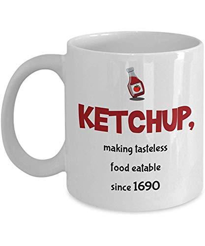 Keramische mok, Ketchup, Het maken van Smaakloos Eten Sinds 1690 Koffiemok, 11 Oz