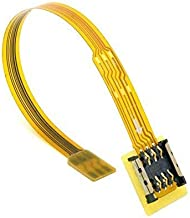 CY Soft Flat FPC Cable Micro SIM Card to Nano SIM Kit Male to Female Extension Extender Cable 10cm