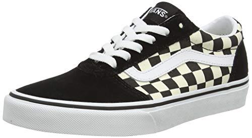 Vans Damen Ward Suede/Canvas Sneaker, Schachbrett Schwarz Weiß, 38 EU