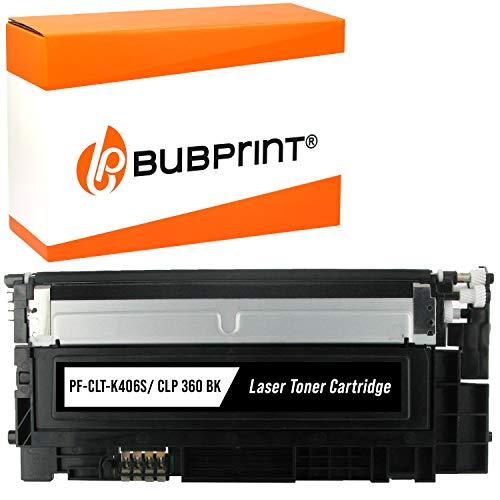 Bubprint Toner kompatibel für Samsung CLT-K406S für CLP-360 CLP-365 CLP-365W CLX-3300 CLX-3305 CLX-3305FN CLX-3305FW CLX-3305W Xpress C410W C460 C460FW C460W Schwarz